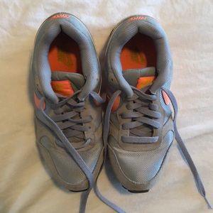 Grey and Orange Nike Shoes